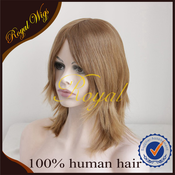 Top quality silk top European blonde Kosher Wig
