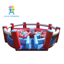Giant round inflatable knock out race challenge obstacle course equipment for kids and adult