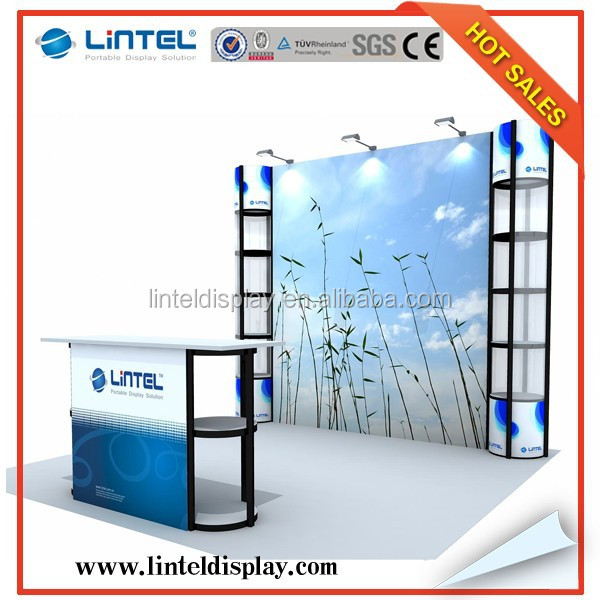 10'*10'ft economic trade show special exhibition booth design LT-ZH007