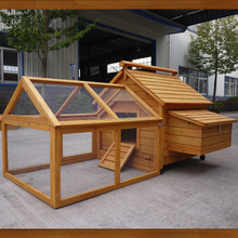 Large Chinese Fir Wood Chicken Coop with run wooden roof pet house