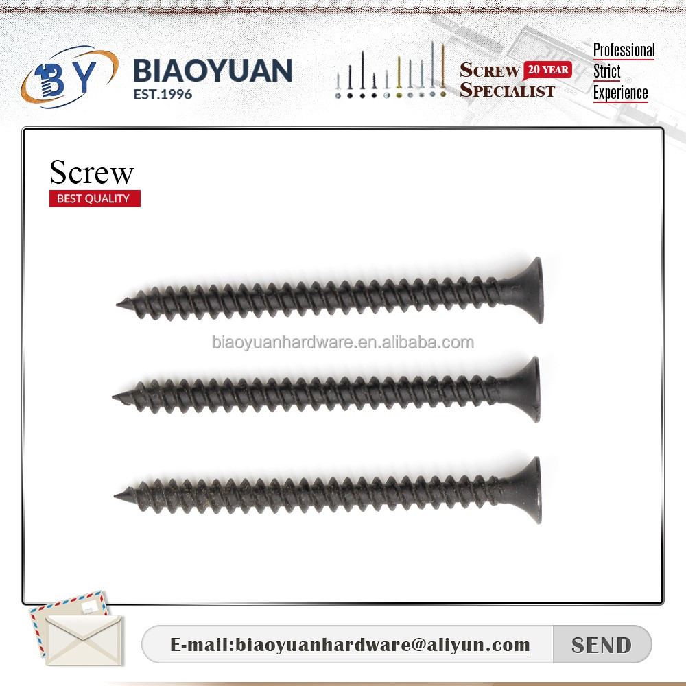 Alibaba website online shopping bugle head black/grey color drywall screw