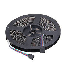 Black Base 5050 LED Strip Light RGB 12V 5m 300 LEDs SMD IP65 Waterproof Flexible Light Strips