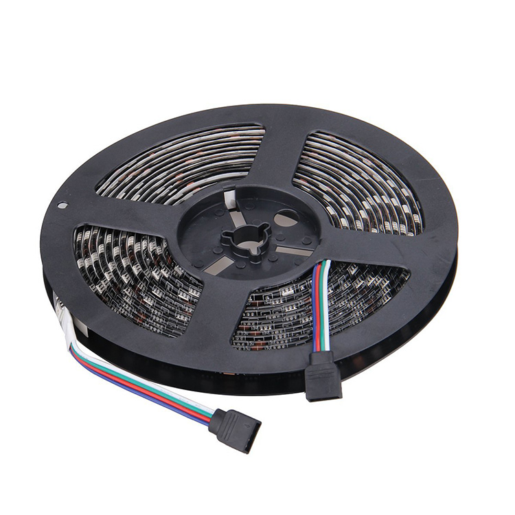 Black PCB Board 5050 LED Strip <strong>RGB</strong> DC 12V 5m 60led/m 300 LEDs SMD IP65 Waterproof Flexible Light Strips