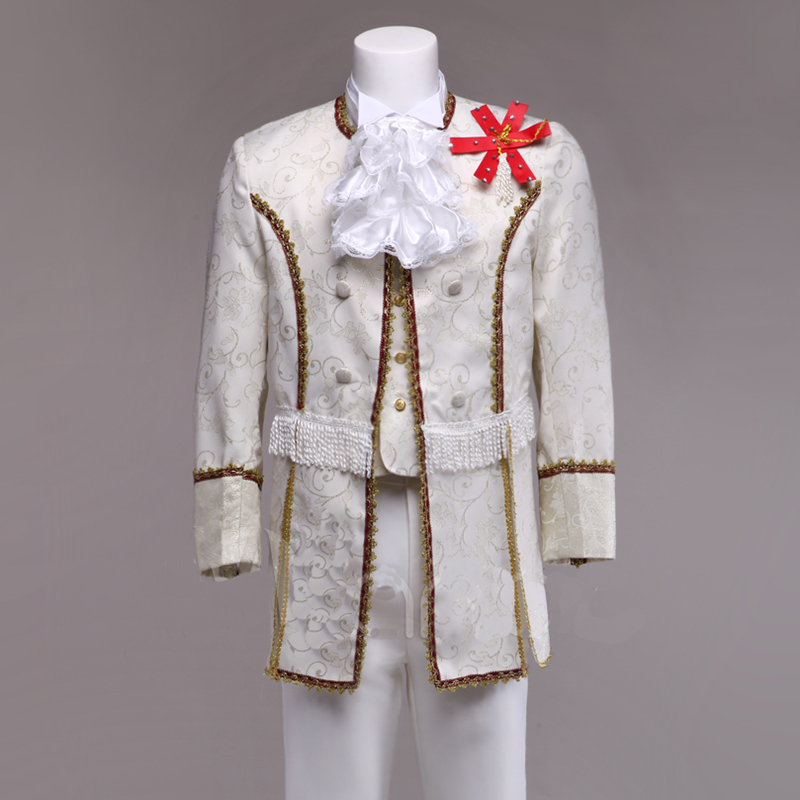 Men European Palace Clothes Prince Korea England Royal Family Stage Performance Dancing Wear Not Including Pants ZH11029