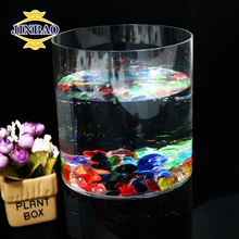JINBAO Clear Cylinder Oval Crystal Fishes Bowl Round Acrylic Glass Fish Aquarium
