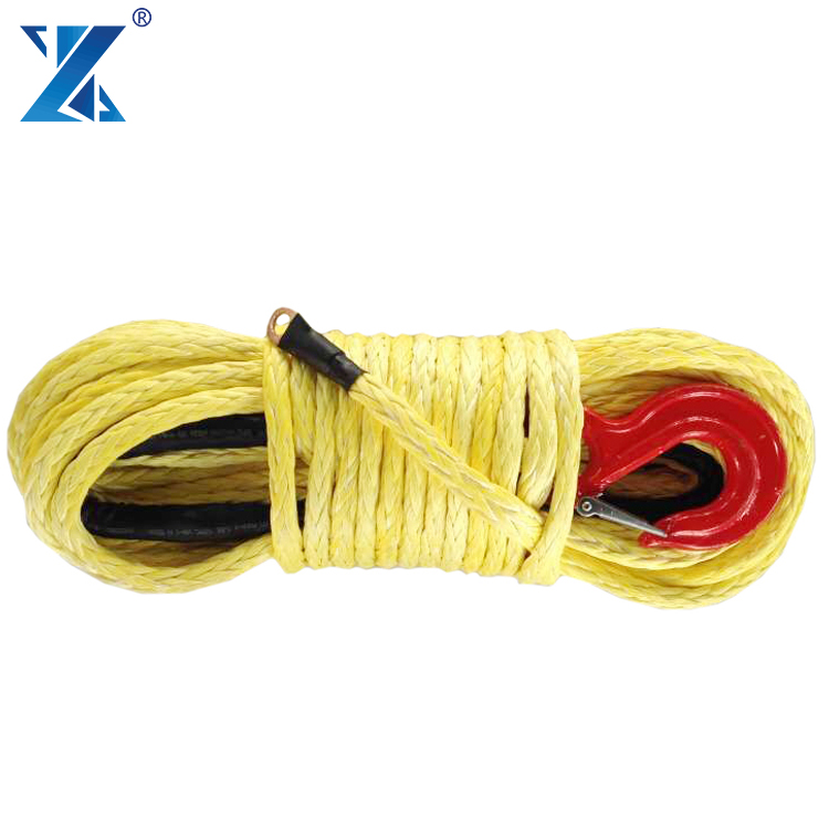 J-MAX 12mm uhmwpe ATV rope for electric winch