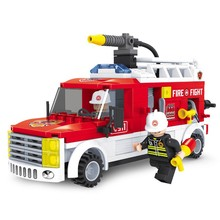 Best types of fire trucks sunny plastic building blocks toys for wholesale