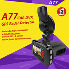 1296 P Ambarella A7 gps detector de radar com dvr car camera & video recorder