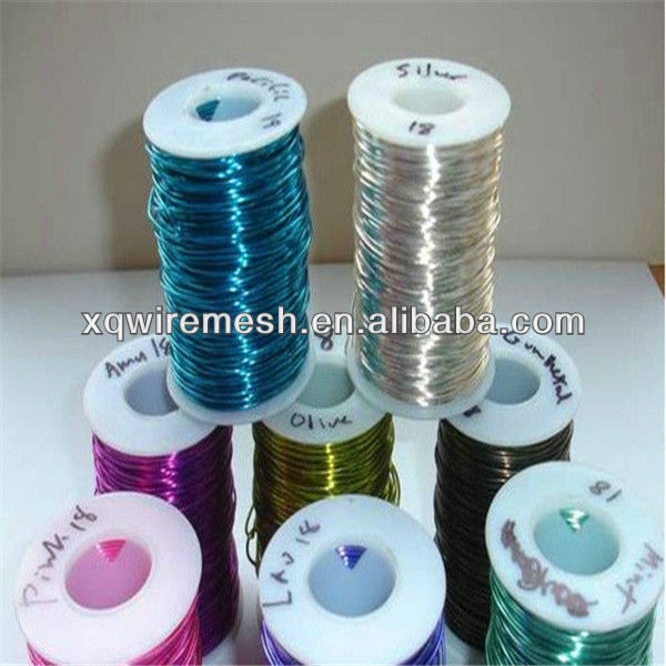 Colored silver plated copper wire for jewelry wire/beading wire
