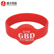 Adjustable Custom Promotional Chip Ntag213 Silicone RFID Wristband