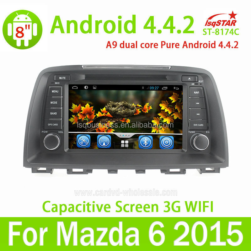 Android 4.4 Auto DVD For 2014 Mazda 6 Car Multimedia GPS