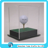 fancy display box for shopping mall, cheap price lucite glass small golf case