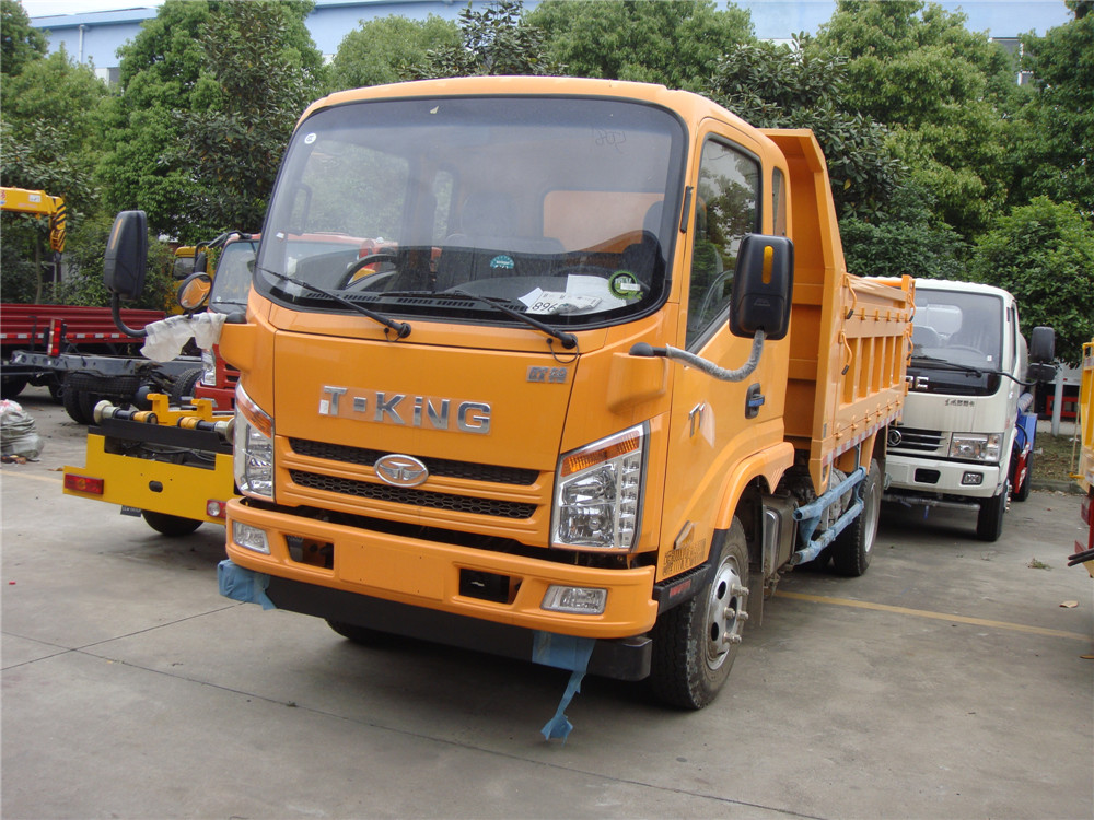 chinese 4x2 T-king 6 wheel dump truck 5t capacity