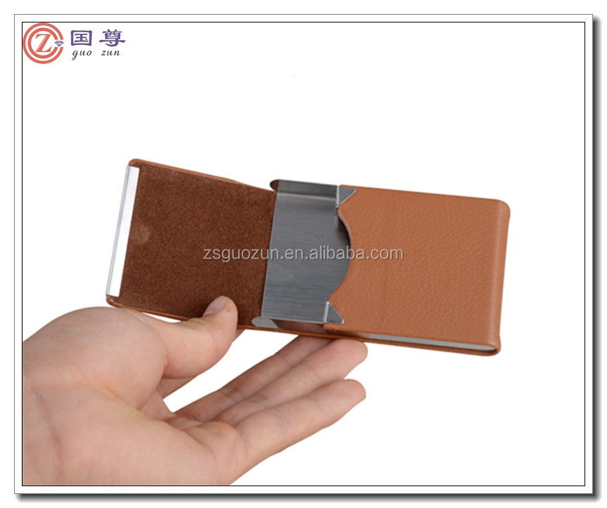 Wholesale Promotional PU Leather Smart Name Card Case/Name Card Box/Name Card Holder Cooperate Gifts