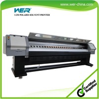 High quality 3.2m WER P3208 large format solvent printer, polaris print heads solvent printer