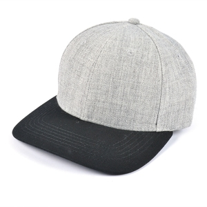 Cheap plain blank 6-panel acrylic wool short brim baseball cap