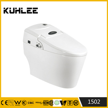 ceramic one piece intelligent smart toilet with warm seat cover