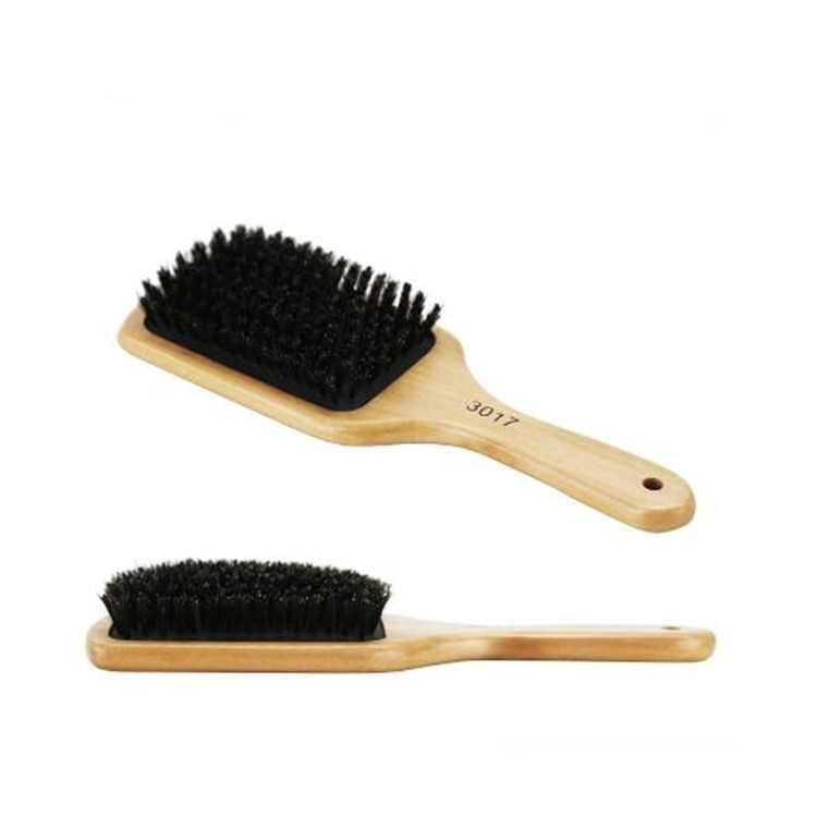 Wooden Wholesal Handle Boar Bristle Hair Brush