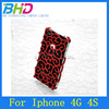 Plating Chrome Hollow Palace Flower Hard Case for iphone 4 4s