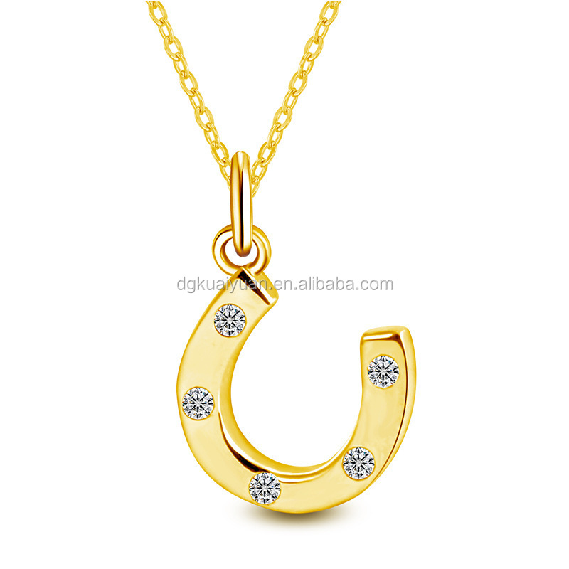 Wholesale Hyde Jekyll and Me 14K Gold Diamond Horseshoe Necklace