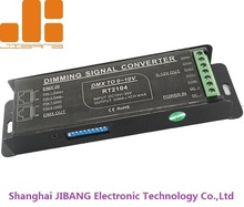 RJ45 and Screwless Terminals DC15-30V 4 in 1 DMX to 0-10V Dimming Signal Converter RT2104