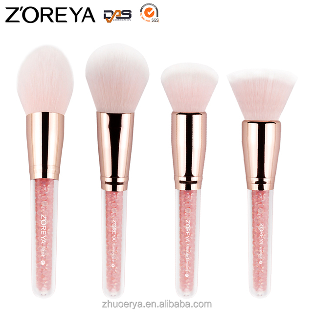 Pink taklon hair diamond handle Refillable foundation brush available