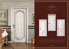 inner room pvc door with veneer flat design