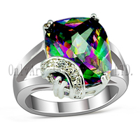 fascinate and colorful stone inlaid comfort fit engagement 925 sterling silver rings