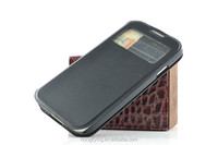 Black folio cover for Samsung Galaxy S5 view window case