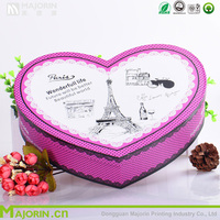 Custom printed Heart-shaped paper box for gift packaging
