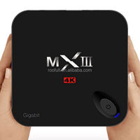 kodi fully loaded mx iii Android 5.1 quad core 4k smart tv box amlogic S812 xbmc smart tv box mxiii 2gb ram 8gb flash mx3 tv box