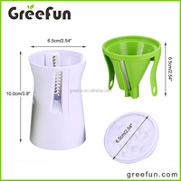 2016 Easy Use Manual Grip Veggie Spaghetti Maker , Custom Logo Vegetable Spiral Slicer , Update Improved Spiralizer Dishwasher