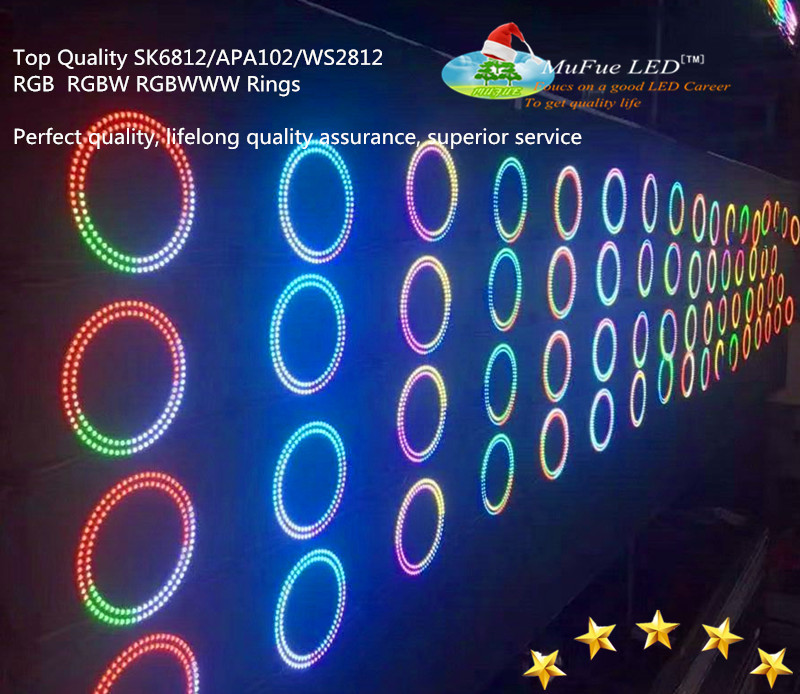 ws2813 rgb 5050 led strip rings,rings sk6813 ring strip,ring strip light apa 102 rgb