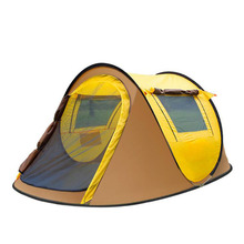 automatic 2 second pop up style outdoor camping single layer 2-3 person family water proof tent