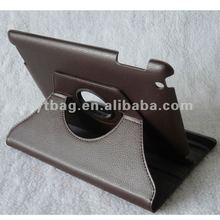 Black color classical style custom leather tablet cover for ipad 2/3