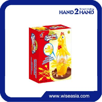 Popular educational games with plastic chicken holder