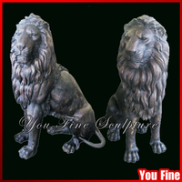 Garden Large Bronze Lion Statue For Sale