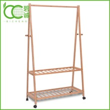 Home Furniture Living Room Use Bamboo Hall Tree Coat Rack Bench Wholesale