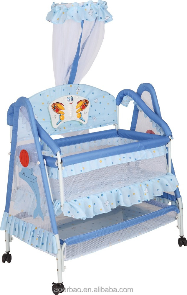 2015 new metal Baby hanging swing crib cot Bed/Baby Cradle Baby Cribs Bed/Baby Rocking Cot Bed/Baby Playpen Bed/Baby Bedding Set