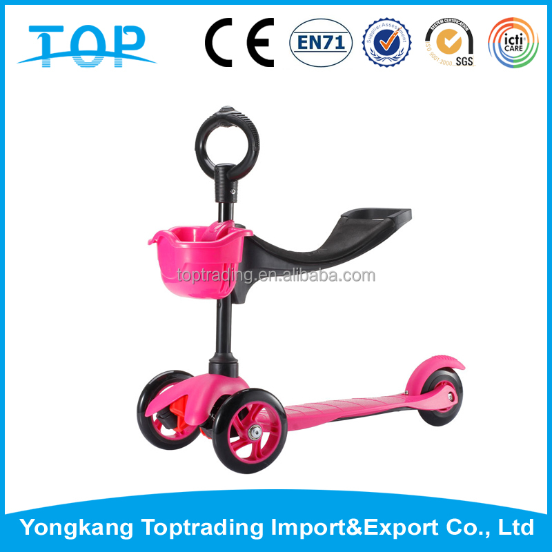 Alibaba Express sunny 3 in 1 scooter 3 wheel baby scooter for sale