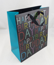 customized hot sale happy birthday ptinted packaging paper bag for birthday gift