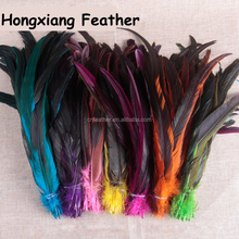 Cheap Best sale 35-40cm Fully Dyed Rooster Feathers for clothes and stage decoration