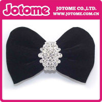 Removable Black Bow Crystal Rhinestone Shoe