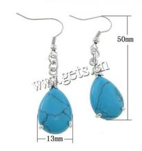 Wholesale turquoise jewelry teardrop rain shaped drop earrings synthetic turquoise earrings