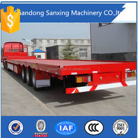 Flat Low Bed Lowboy Semi Truck