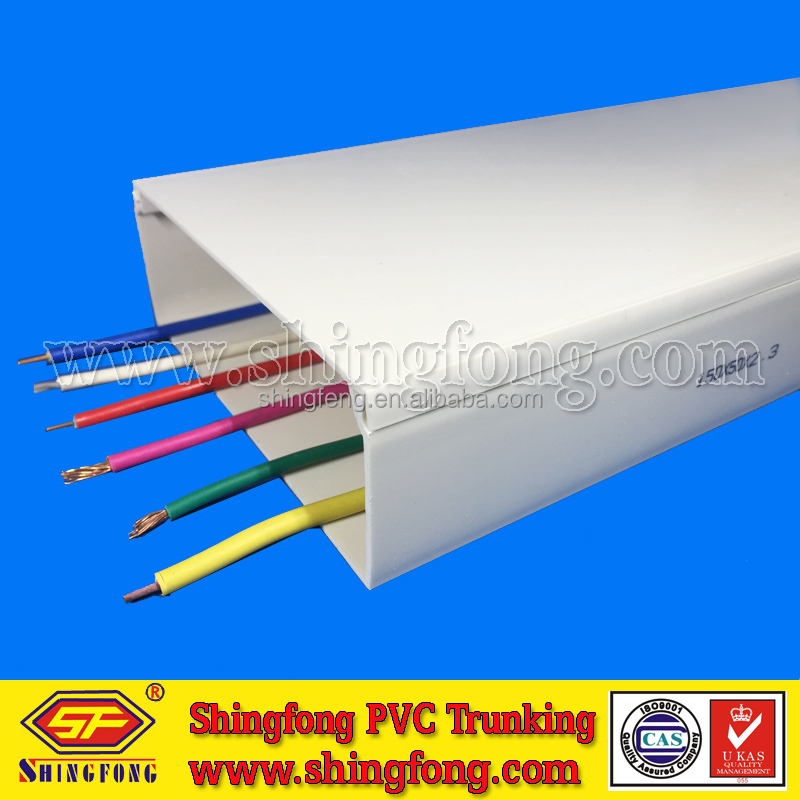Electrical Cable PVC Plastic Wire Trunking for Office/Home/Outdoor Decoration
