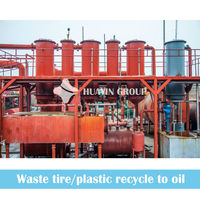 HUAYIN China Tyre Recycling Pyrolysis Plant Density 0.87 Oil