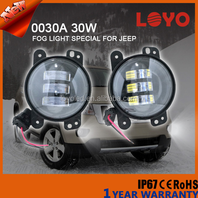 2015 Newest 4'' LED Fog Light, LED Fog Lamp 4inch For All Years Jeep Wrangler