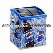 Pepsi Chest Cooler with Curved Glass Door and 136/218/280/336/352/406/517/587L Plentiful Volumes