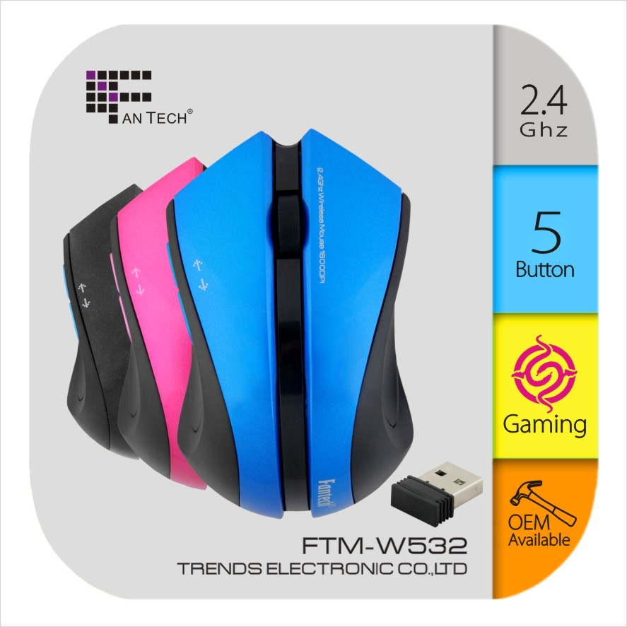FTM-W532 High Technology Wireless Mouse 2.4Ghz Promotion Gaming Mouse